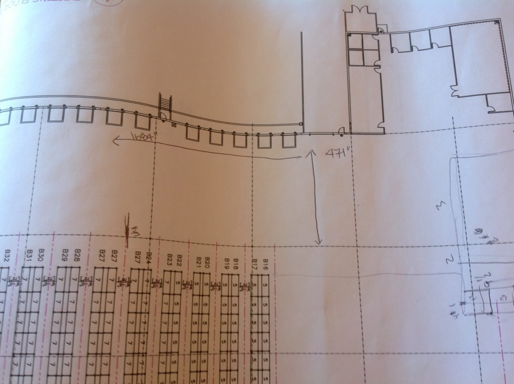 Relocate racking in the warehouse - architectural plans