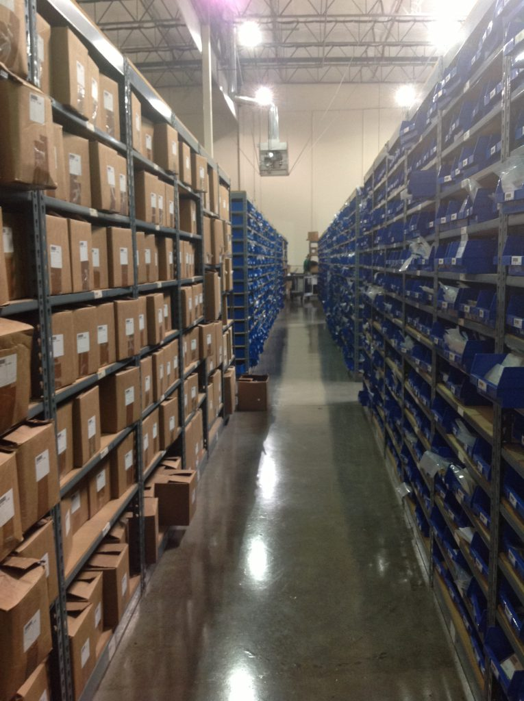 Picking orders from small parts warehouse shelving