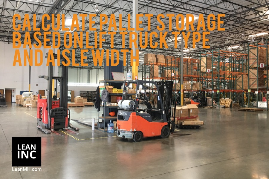 CALCULATE PALLET STORAGE BASED ON WAREHOUSE SQUARE FEET