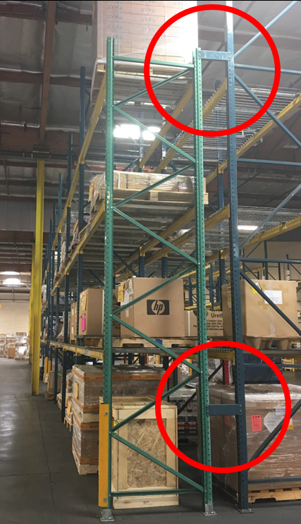 WAREHOUSE RACK - SPACER BOLTING TOGETHER TWO UPRIGHT FRAMES