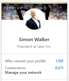 LINKEDIN HOME - NUMBER OF CONNECTIONS