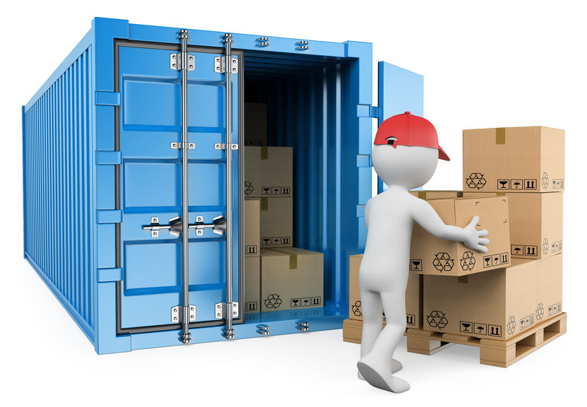 lumping service - unloading containers onto a pallet
