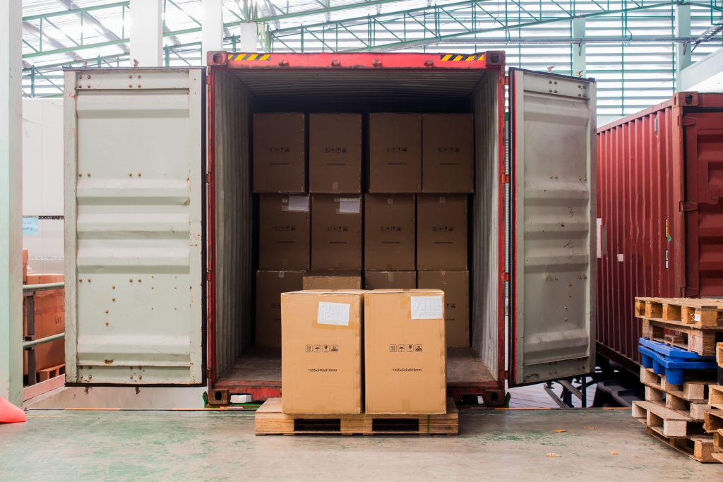 Lumper service - unloading a shipping container