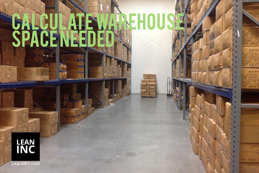 estimate warehouse space needed
