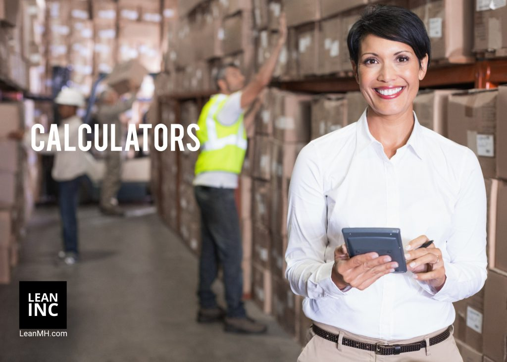 Warehouse management calculators