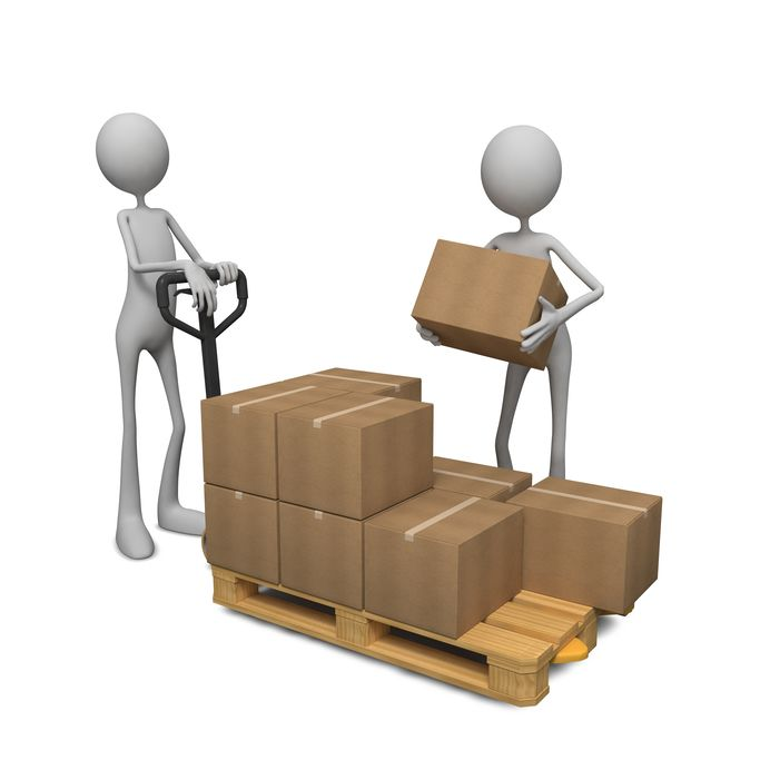 Picking products onto pallets - assembling orders