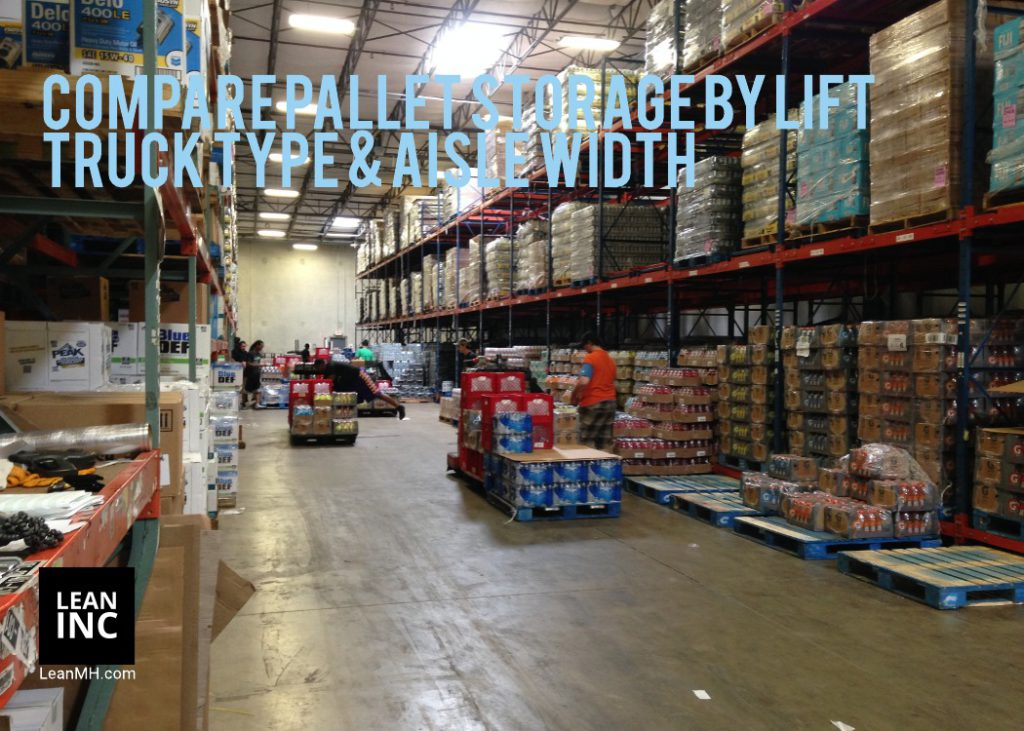 PALLET STORAGE BY LIFT TRUCK TYPE AND AISLE WIDTH - optimize warehouse space