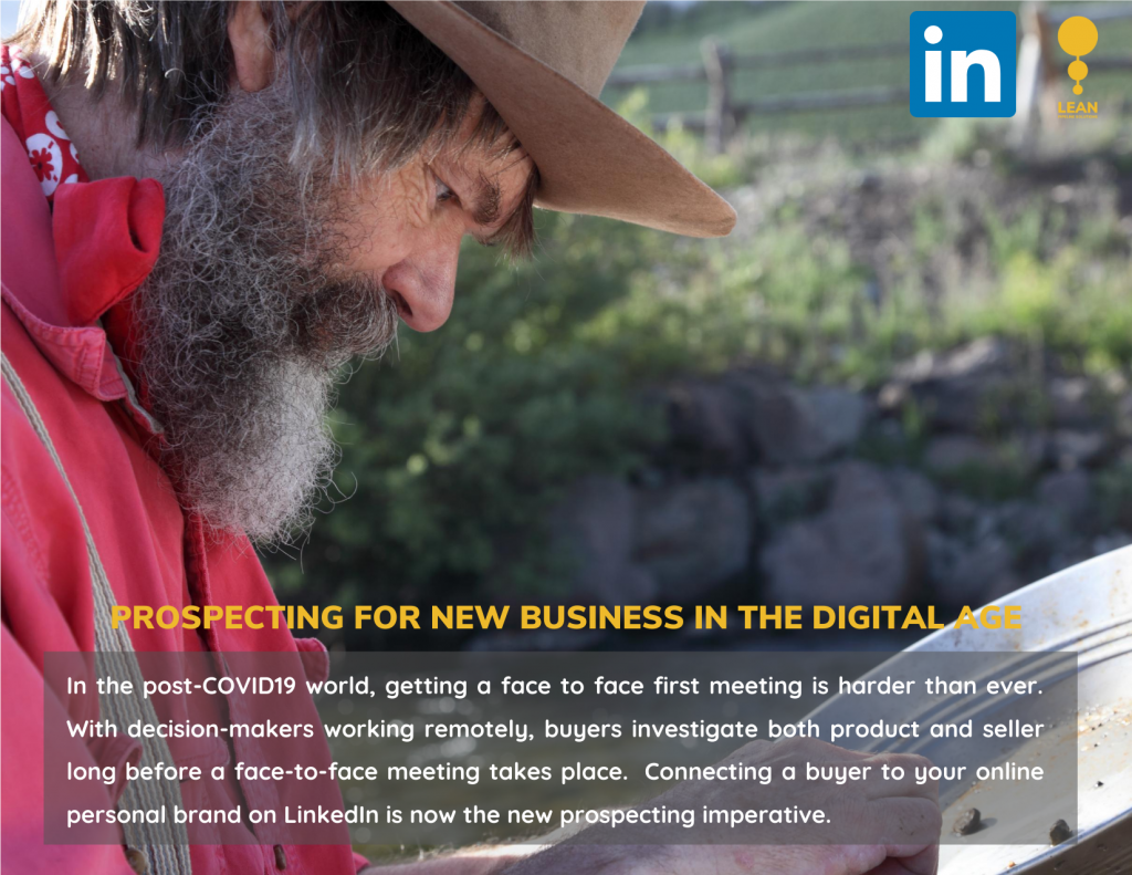 PROSPECTING FOR NEW BUSINESS USING LINKEDIN