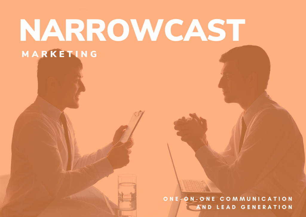 narrowcast marketing - two people having a business conversation