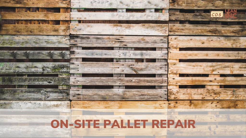 repaired pallets statcked
