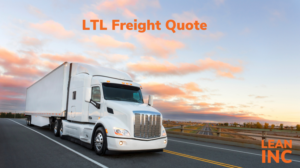 LTL freight quote