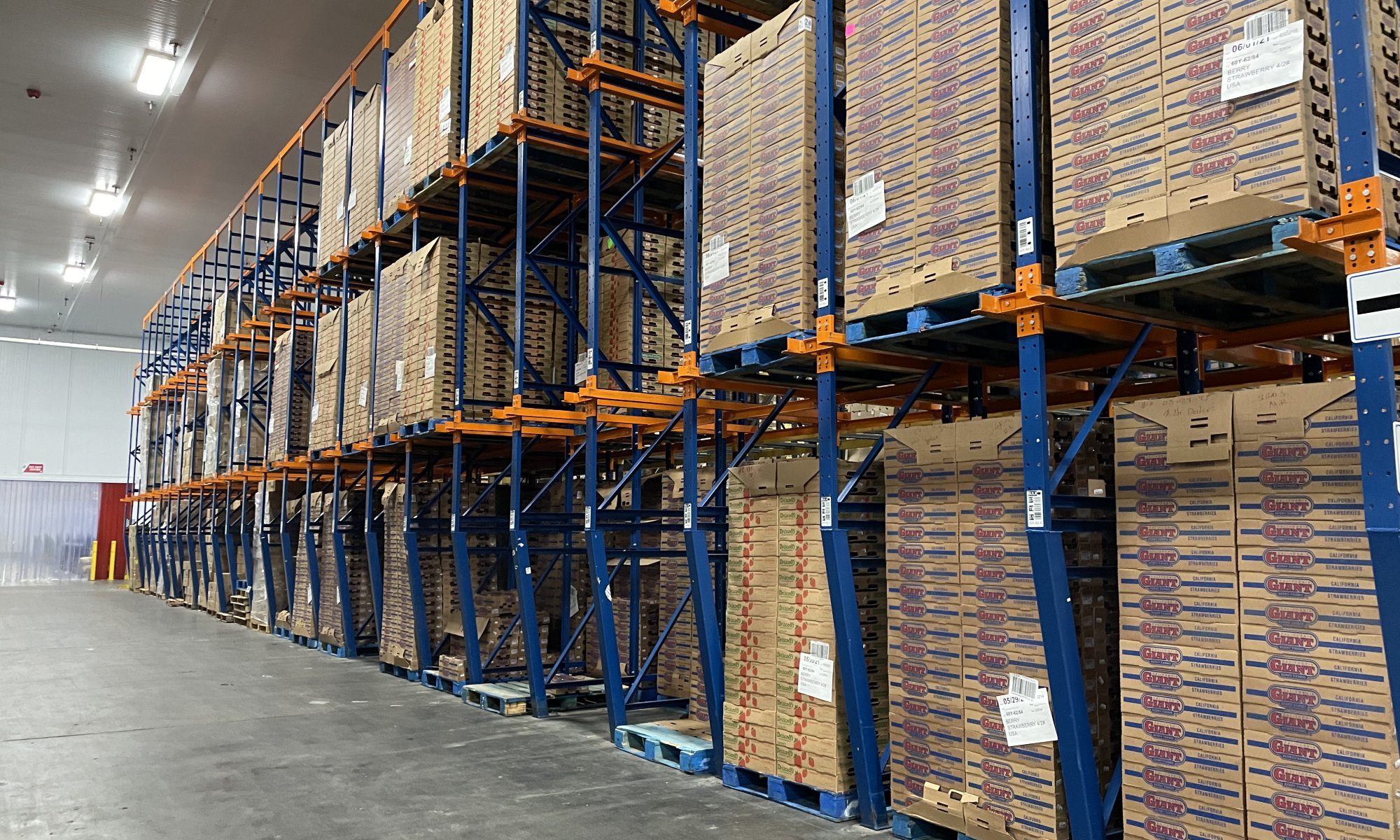 Pallet racking in a lean warehouse design